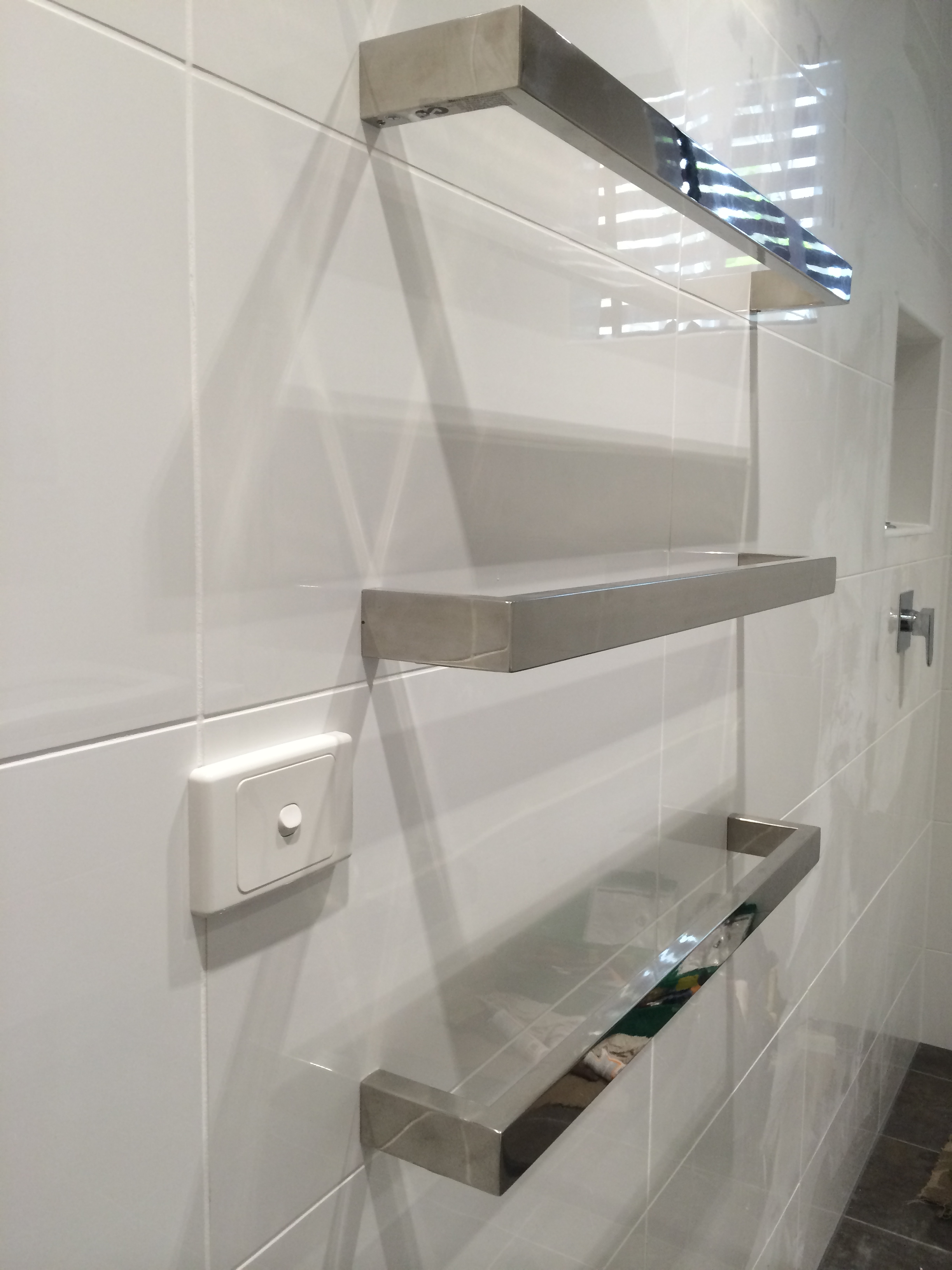 Kitchen Bathroom Laundry Electrician In Melbourne Proelement Electrical Wiring Rules Bathrooms Electric Heated Towel Rail Installation Alterations And Additions Provided For This Renovation